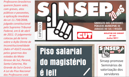 JUN/2011 – Piso salarial do magistério é lei!
